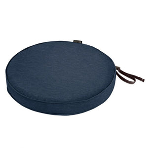 Classic Accessories Montlake Water Resistant 18 x 2 Inch Patio Dining Seat Cushion Heather Indigo Blue