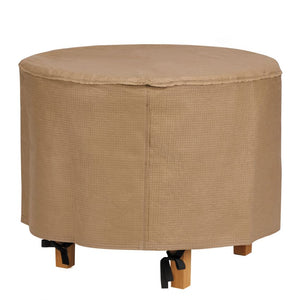 Duck-Covers-Essential-Water-Resistant-31-Inch-Round-Ottoman-Side-Table-Cover