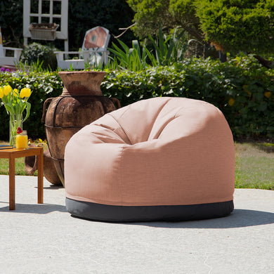 Jaxx Palmetto Large Round Outdoor Bean Bag Club Chair -Sunbrella