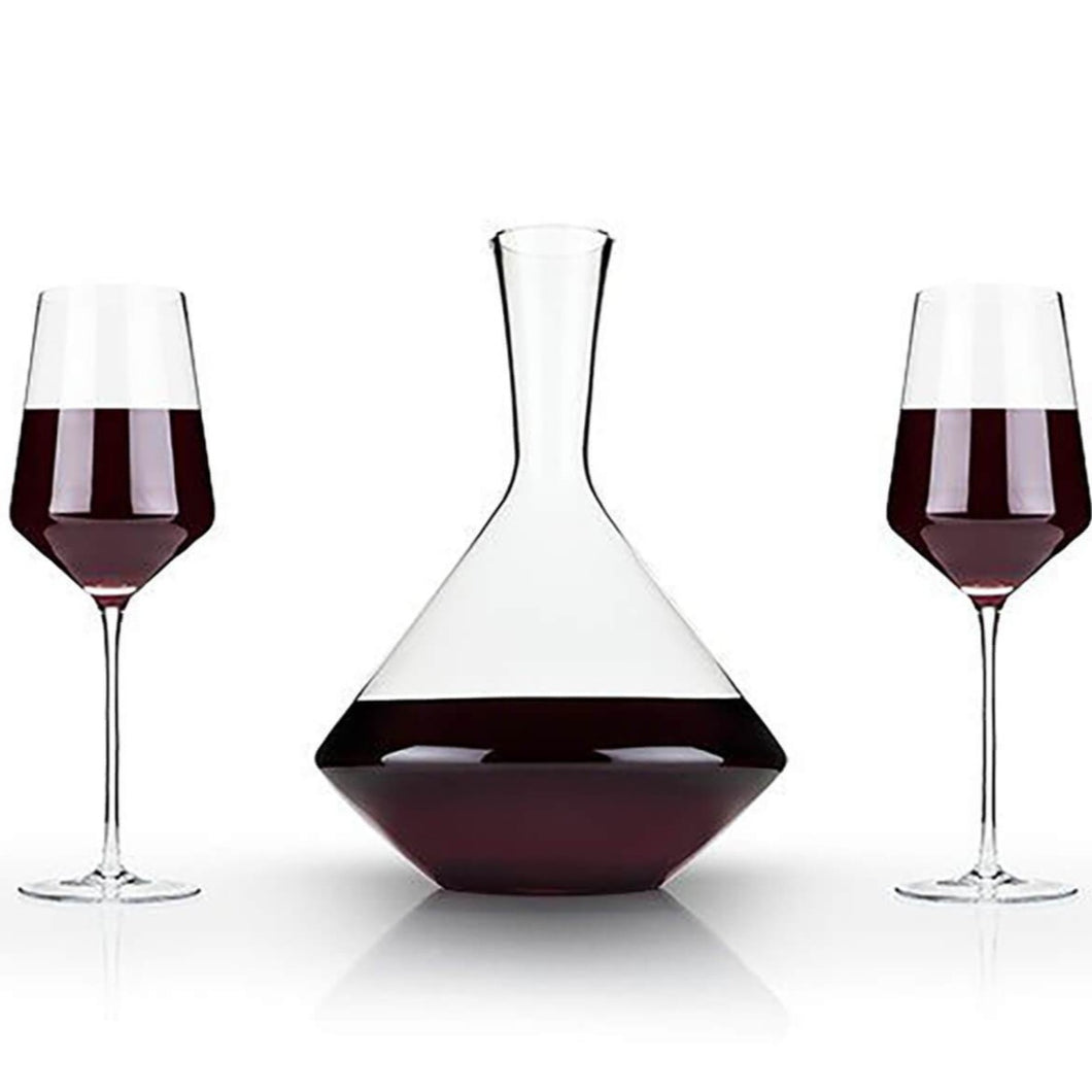 3-Piece Angled Crystal Bordeaux Set by Viski