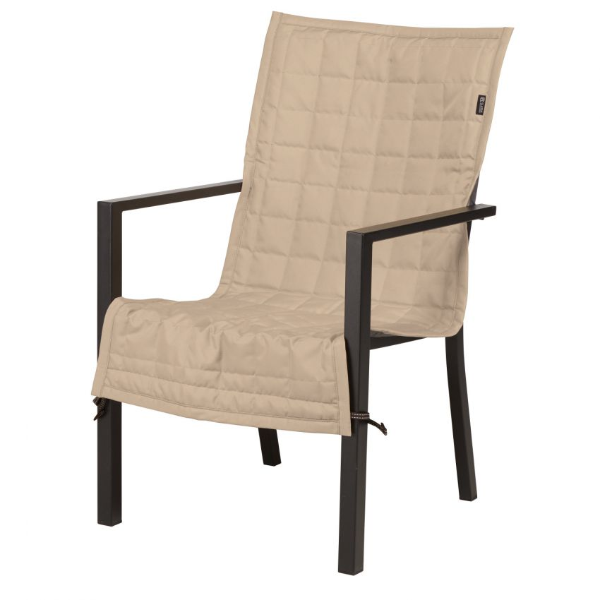 Classic-Accessories-Montlake-Water-Resistant-45-Inch-Patio-Chair-Slip-Cover-Antique-Beige