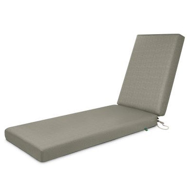Weekend Water-Resistant 80 inch x 26 inch x 3 Inch Outdoor Chaise Cushion, Moon Rock