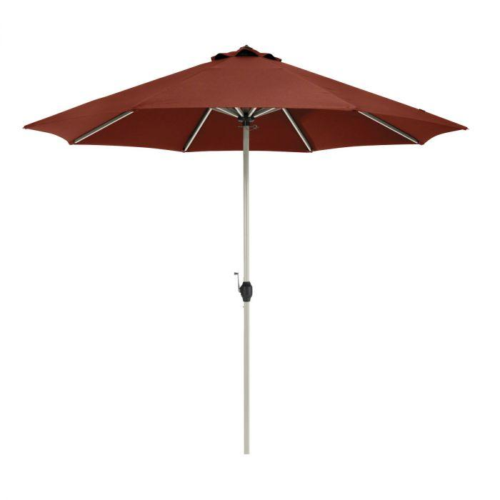 Montlake Fadesafe Aluminum Patio Umbrella - Henna - Backyard Home Oasis