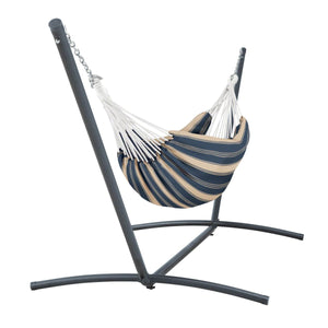 Montlake Fadesafe Brazilian Hammock with Steel Stand - Indigo - Backyard Home Oasis