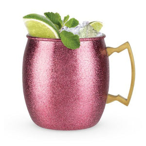 Pink Glitter Moscow Mule - Backyard Home Oasis
