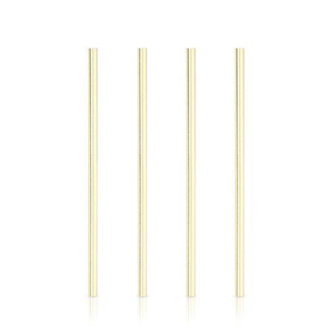 Wide Gold Cocktail Straws