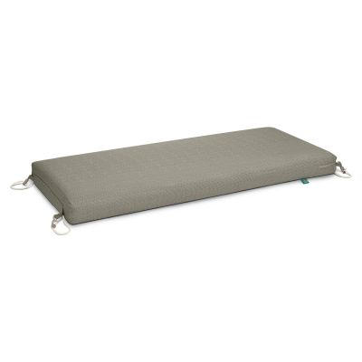 Weekend Water-Resistant 42 inch x 18 inch x 3 Inch Outdoor Bench Cushion, Moon Rock