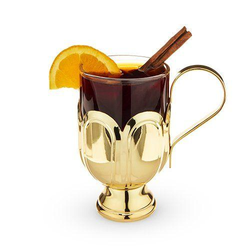 Gold-plated Mulled Wine Glass