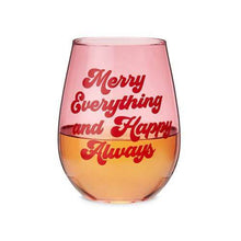 Load image into Gallery viewer, Merry Everything Stemless Wine Glass - Backyard Home Oasis