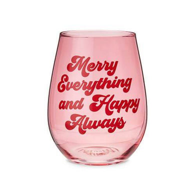 Merry Everything Stemless Wine Glass - Backyard Home Oasis