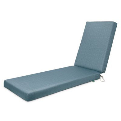 Weekend Water-Resistant 80 inch x 26 inch x 3 Inch Outdoor Chaise Cushion, Blue Shadow
