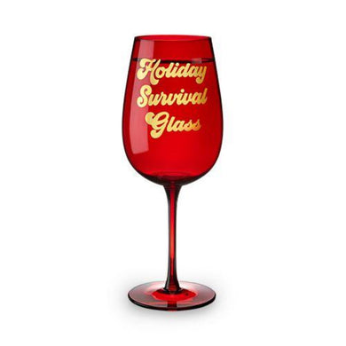 Holiday Survival Wine Glass