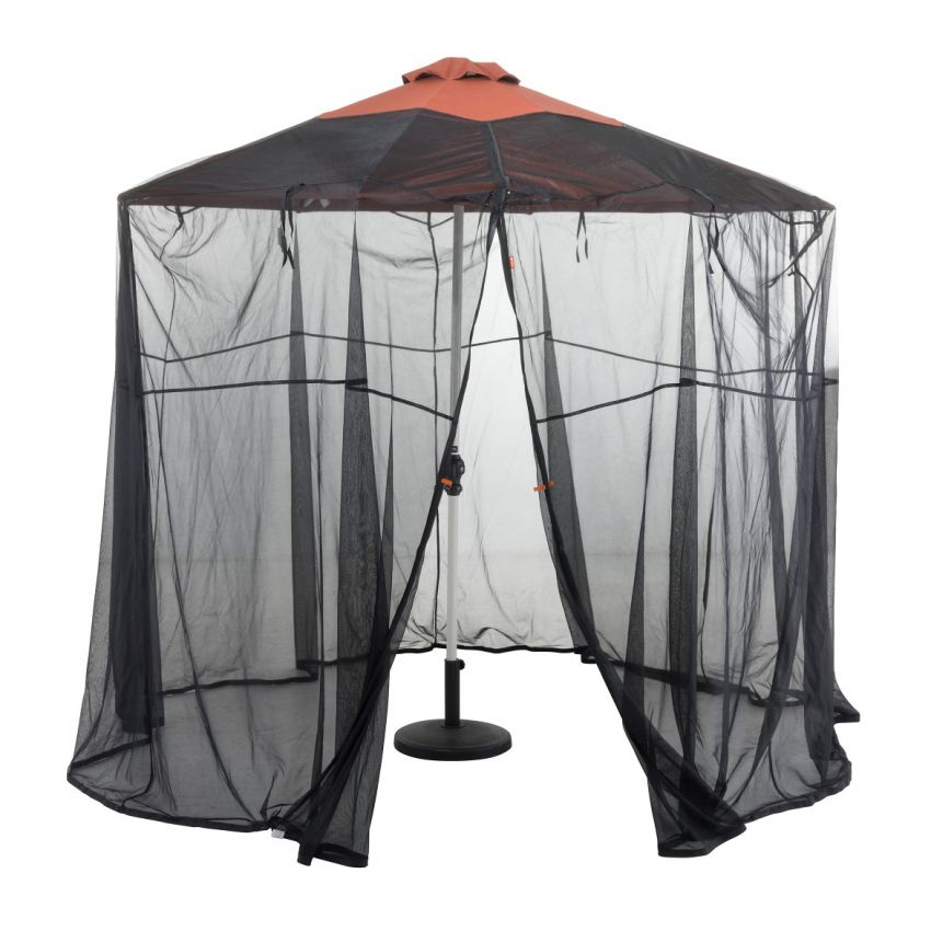 Classic-Accessories-Water-Resistant-9-foot-universal-Round-Patio-Umbrella-insect-screen-Canopy
