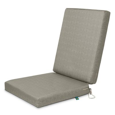 Weekend Water-Resistant 44 inch x 20 inch x 3 Inch Outdoor Dining Chair Cushions, Moon Rock