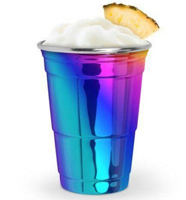 Stainless Steel Rainbow Party Cup - Backyard Home Oasis