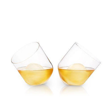 Crystal Rolling Whiskey Tumblers - Set of 2