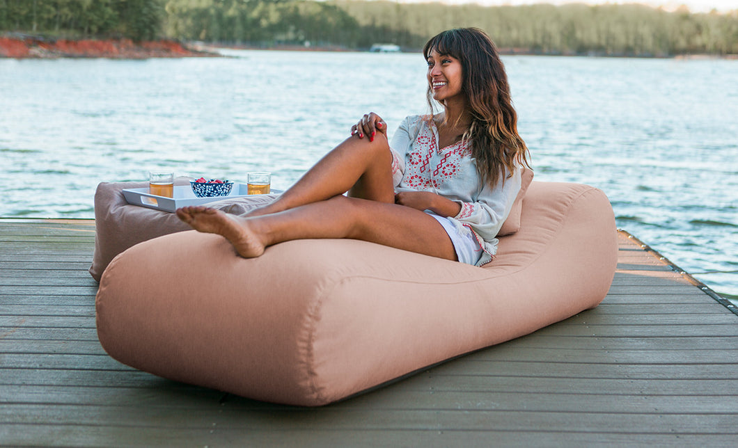 Arlo Outdoor Bean Bag Sun Lounger with Sunbrella Cover