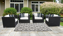 Load image into Gallery viewer, Barbados 4 Piece Outdoor Wicker Patio Furniture Set 04i