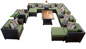 Barbados 17 Piece Outdoor Wicker Patio Furniture Set 17c