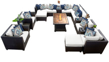 Load image into Gallery viewer, Barbados 17 Piece Outdoor Wicker Patio Furniture Set 17c