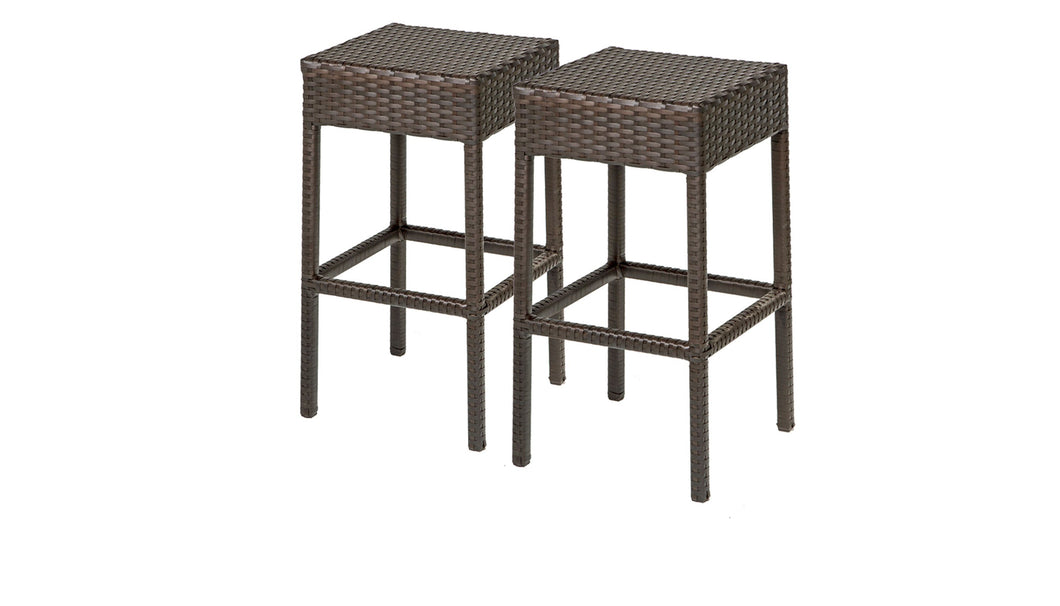2 Barbados Backless Barstools