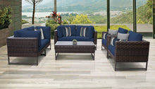 Load image into Gallery viewer, Barcelona 7 Piece Outdoor Wicker Patio Furniture Set 07e