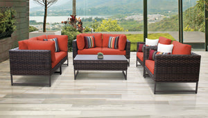 Barcelona 7 Piece Outdoor Wicker Patio Furniture Set 07e