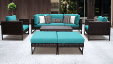 Load image into Gallery viewer, Barcelona 8 Piece Outdoor Wicker Patio Furniture Set 08c