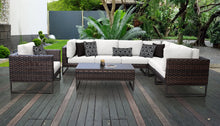 Load image into Gallery viewer, Barcelona 8 Piece Outdoor Wicker Patio Furniture Set 08d