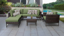 Load image into Gallery viewer, Barcelona 8 Piece Outdoor Wicker Patio Furniture Set 08m