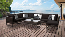 Load image into Gallery viewer, Barcelona 9 Piece Outdoor Wicker Patio Furniture Set 09d