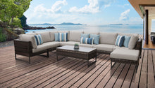 Load image into Gallery viewer, Barcelona 9 Piece Outdoor Wicker Patio Furniture Set 02a