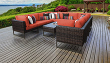 Load image into Gallery viewer, Barcelona 11 Piece Outdoor Wicker Patio Furniture Set 11a
