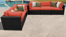 Load image into Gallery viewer, Belle 5 Piece Outdoor Wicker Patio Furniture Set 05d