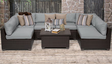Load image into Gallery viewer, Belle 7 Piece Outdoor Wicker Patio Furniture Set 07a