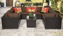 Load image into Gallery viewer, Belle 9 Piece Outdoor Wicker Patio Furniture Set 09a
