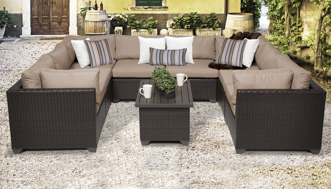 Belle 9 Piece Outdoor Wicker Patio Furniture Set 09a