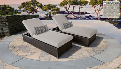 Belle Chaise Outdoor Wicker Patio Furniture With Side Table