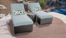 Load image into Gallery viewer, Belle Chaise Set of 2 Outdoor Wicker Patio Furniture With Side Table