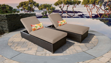 Belle Chaise Set of 2 Outdoor Wicker Patio Furniture