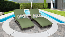 Load image into Gallery viewer, Belle Curved Chaise Set of 2 Outdoor Wicker Patio Furniture