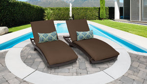 Belle Curved Chaise Set of 2 Outdoor Wicker Patio Furniture