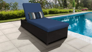 Belle Wheeled Chaise Outdoor Wicker Patio Furniture