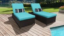 Load image into Gallery viewer, Belle Wheeled Chaise Set of 2 Outdoor Wicker Patio Furniture