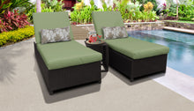 Load image into Gallery viewer, Belle Wheeled Chaise Set of 2 Outdoor Wicker Patio Furniture and Side Table