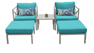 Carlisle 5 Piece Outdoor Wicker Patio Furniture Set 05a
