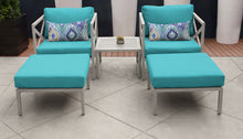 Load image into Gallery viewer, Carlisle 5 Piece Outdoor Wicker Patio Furniture Set 05a