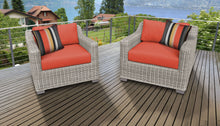 Load image into Gallery viewer, Coast 2 Piece Outdoor Wicker Patio Furniture Set 02b