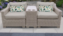 Load image into Gallery viewer, Coast 3 Piece Outdoor Wicker Patio Furniture Set 03b