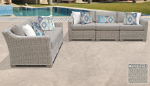 Load image into Gallery viewer, Coast 5 Piece Outdoor Wicker Patio Furniture Set 05a